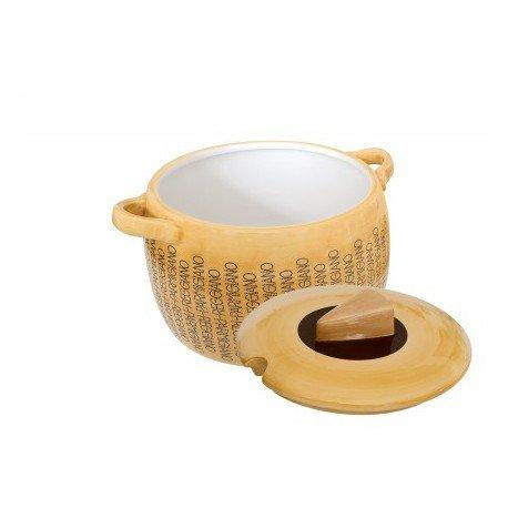 Zuppiera in ceramica con marchio Parmigiano Reggiano